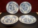 4-Blauwwit-porseleinen-borden-China-18e-Eeuw