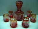 Complete-karafset-in-rood-en-blank-glas-8-delig