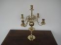 Antieke-Koperen-Kandelaar-voor-5-kaarsen
