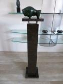 Modern-bronzen-sculpture-de-Stier-van-Pieter-Kortekaas-gesigneerd-PKortekaas-1990
